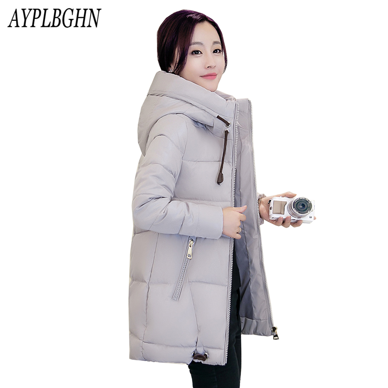2017 New Fashion Long Winter Jacket Women Slim Female Coat Thicken Parka Cotton Clothing Plus size Parka Hooded Student 5L76 women s jacket winter 2017 new student hooded short down cotton parka plus size coat slim thin ladies casual clothing hot sale
