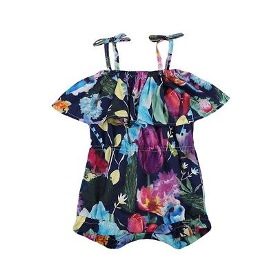 Infant Toddler Baby Girl Kid Sling Bandage Floral Romper Outfits 1Piece Costume Baby Clothing