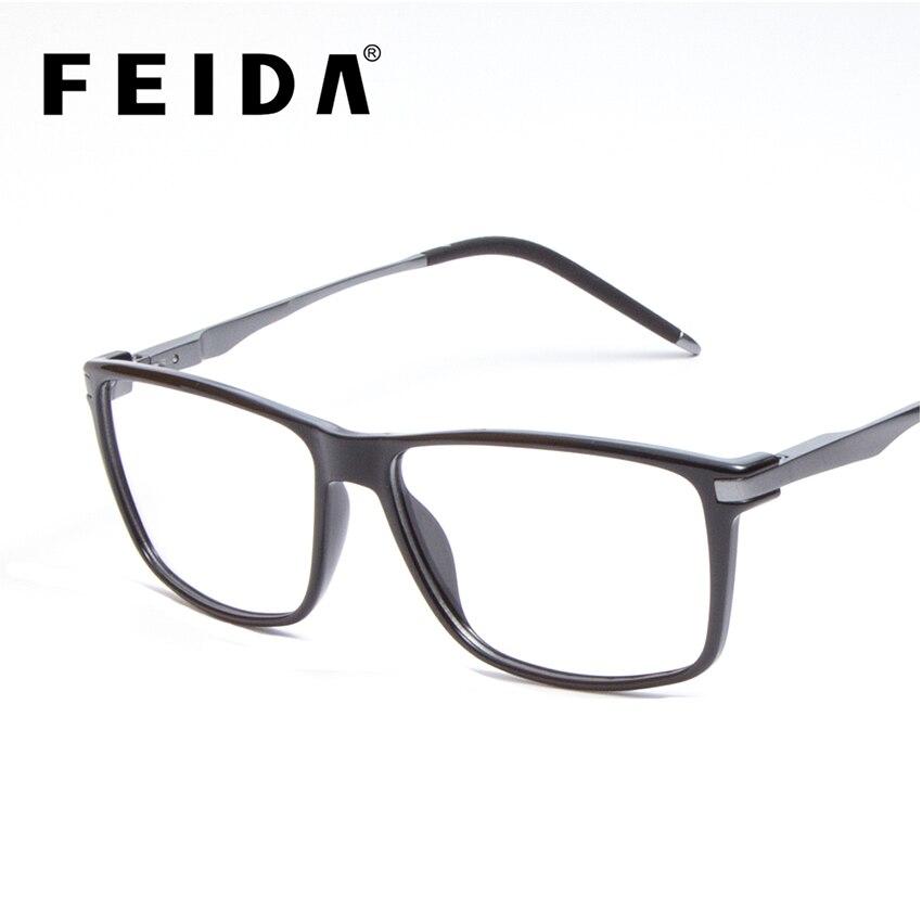 FEIDA Mens font b Optical b font Glasses Frames Luxury Brand Wrap Frames Square Fashion Vintage