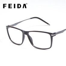 FEIDA для мужчин s оптические очки рамки Элитный бренд обёрточная бумага s квадратный модные Винтаж глаз Oculos 6016