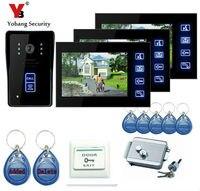 Yobang Security 7 Intercom Door Phone RFID Door Intercom Video Door Camera Bell Night View Unlocking Dual way Door intercom