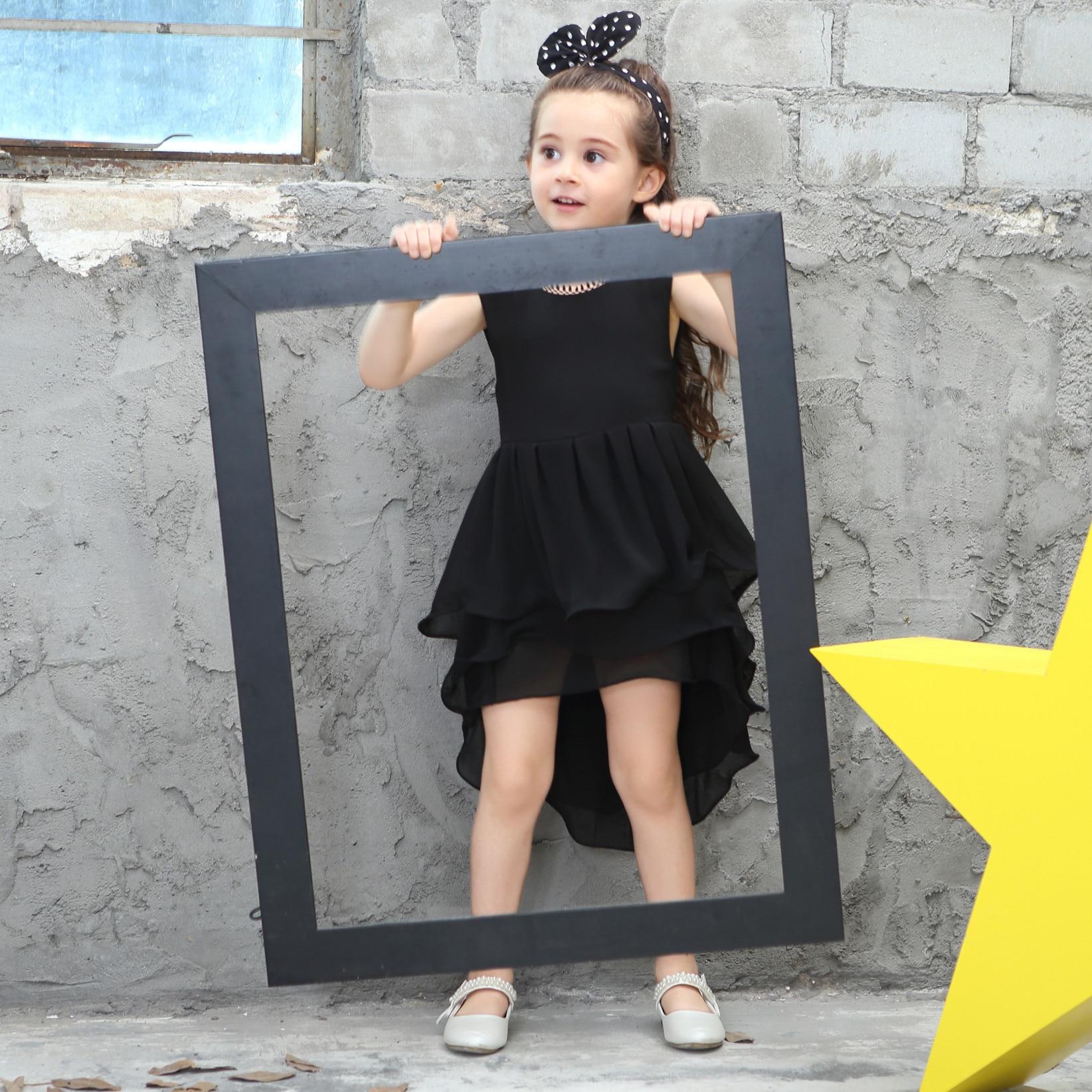 Black dress for baby girl - Kids Evening Dress Baby Girls Black Irregular Party Dresses Girl Sleeveless Princess Dress Costume Children Summer