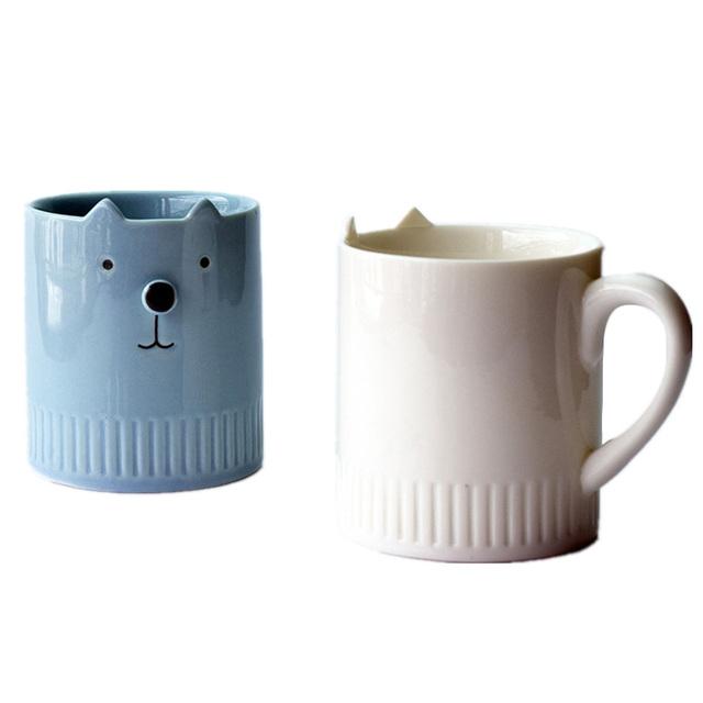 A Personalized Hot Simple Cat Mug Ceramic Milk Coffee Tea Mug Custom Birthday Christmas Gifts