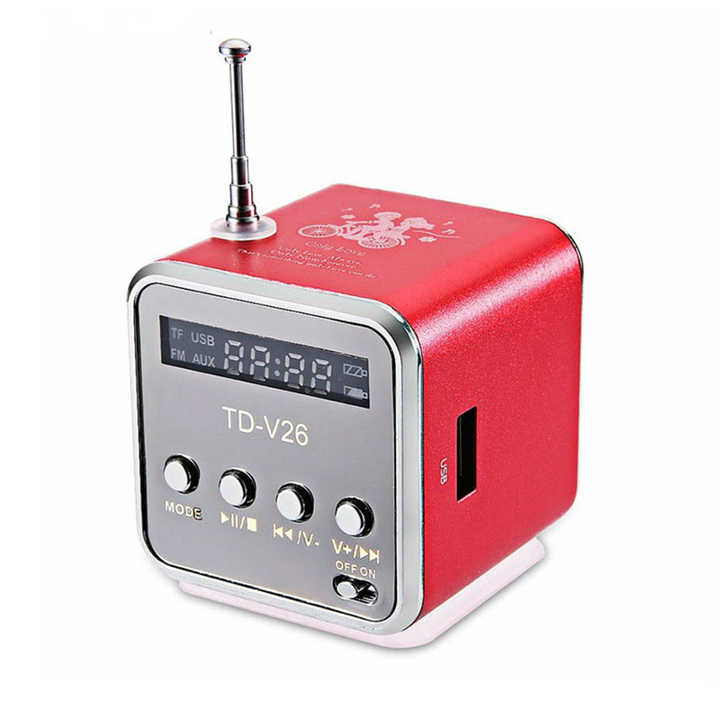Mini Digital FM Radio Speaker Portable Radio Receiver Aluminum LCD Stereo Loudspeaker Support Micro TF Card Z3