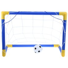 58cm Portable Soccer Goal Post Net Utility Football Soccer Goal Post + Net + Ball + Pump Safe Outdoor Indoor Kids Children Toy