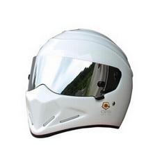 StarWars motorcycle helmet FRP SIMPSON, Star Wars pig helmet ATV - 4 Stig. White