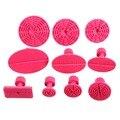Nova 10 pcs PDR Abas Glue Puxando Ferramentas de Reparação Paintless Dent Levantador Mini Vermelho