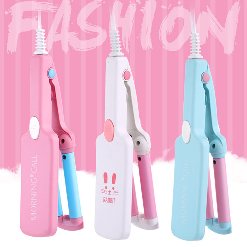 Mini Hair Curling Iron Ceramic Triple Barrel Hair Curler Portable Hair Styling Tools With Transparent Box 110-220V 45D