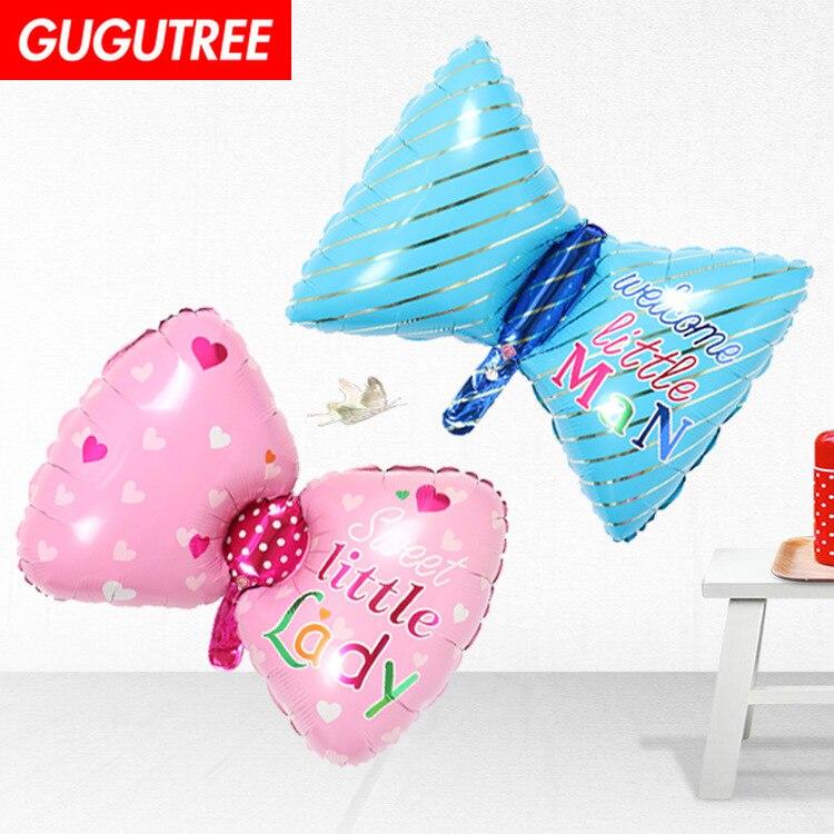 Decorar a Casa 76x45 cm rosa azul bowknot balões foil casamento evento festival da festa de aniversário do dia das bruxas natal HY-48