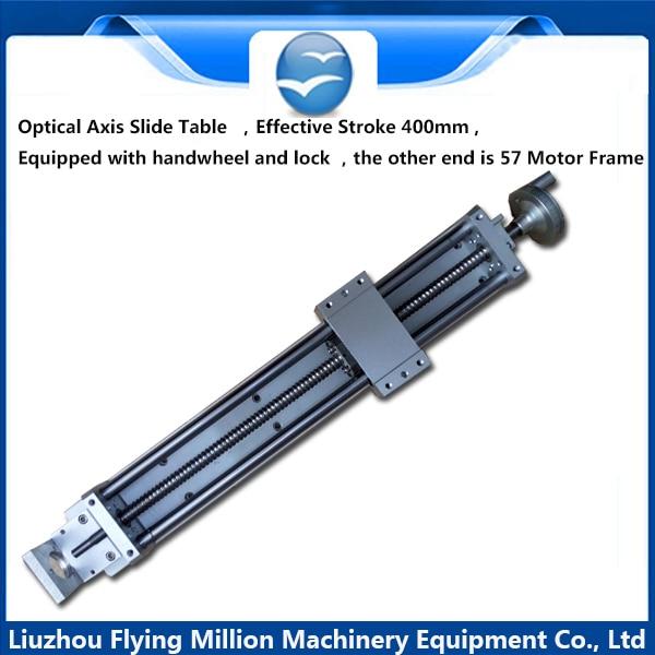 1605 ball screw rod , lock, handwheel ,57 motor bracket  linear slide table  module 400 mm