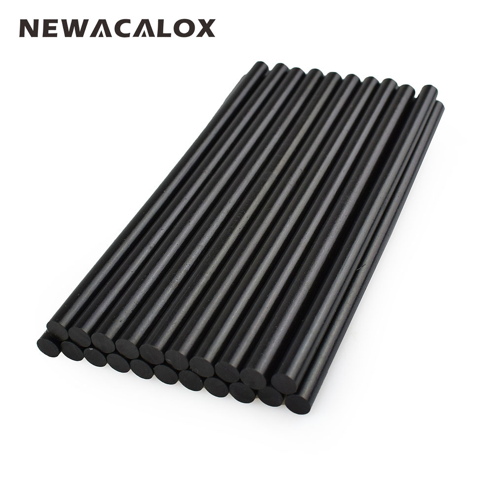 NEWACALOX Gun Adhesive DIY Tools Alloy Accessories Repair 20 pcs/lot 150mm Black Hot Mel ...