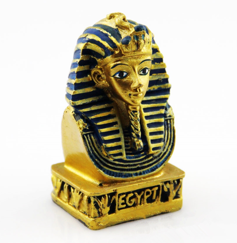 Hand Painted Egypt Pharaoh Statue Creative Resin Crafts Tourism Souvenir Gifts Collection Home Decortion