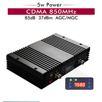 Powerful 5w 37dBm CDMA 850 Signal Repeater CDMA 850mhz Band 5 Cell Phone Signal Booster AGC MGC LCD Display Cellular Amplifier