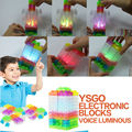 Control de voz luminosa electrónica circuito Integrado circuito complemento modelo bloques de construcción bloques de Kits de BRICOLAJE kits de Ciencia juguetes de los niños