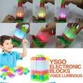 Controle de voz luminosa eletrônico blocos de construção de blocos DIY Kits circuito Integrado circuito de pressão modelo kits de Ciência crianças brinquedos