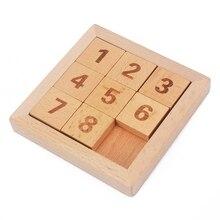 Hottest Klasik Pendidikan Mainan Kayu 8 Puzzle Algoritma Delapan Geser Ubin Kayu Beech Digit dari 1 sampai 8 Dewasa Otak Mainan