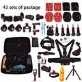 43 itens acessórios kit esportes peito correia strap mount para gopro hero 4/3 +/3/2/1/SJ4000/SJ5000/SJ6000