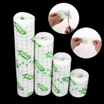 1Roll Waterproof Transparent Tape Non-woven Fabric film  Adhesive Plaster Anti-allergic Wound Dressing Fixation Tape 1roll 5cm 5m kite repair tape waterproof ripstop diy adhesive film grid awning translucent kite tent repair patch tape