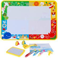 Water Drawing Mat 70*100cm+3 Pens+5 Stamps Educational Toy for Kids
