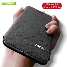 For Xiaomi Mi A2 Lite Case Silicone Mofi Flip Leather Luxury Cover MiA2