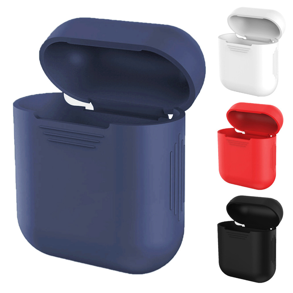 4 colors For Apple AirPods Case Silicone Shock Proof Protector Sleeve Skin Cover for AirPods Wireless Earphone Box كاتم العقيلات