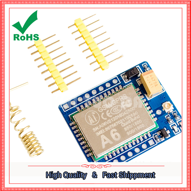US $7 42  A6 GPRS / GSM module SMS \ voice \ development board wireless  data transmission super SIM800L-in Integrated Circuits from Electronic