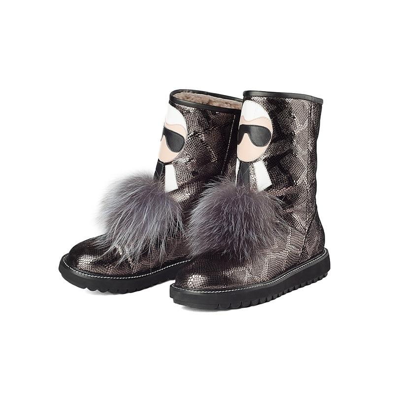 812858f1f67 Inverno Plataforma Sapatos Cobra Moda Quente Alta Botas Black Ankle Da Neve Mulher  De Boots Impressos ...