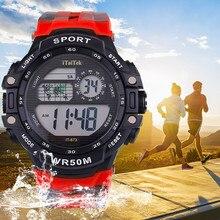 Reloj deportivo hombre цифровые часы спортивные водонепроницаемые часы многофункциональные светящиеся модные электронные спортивные часы