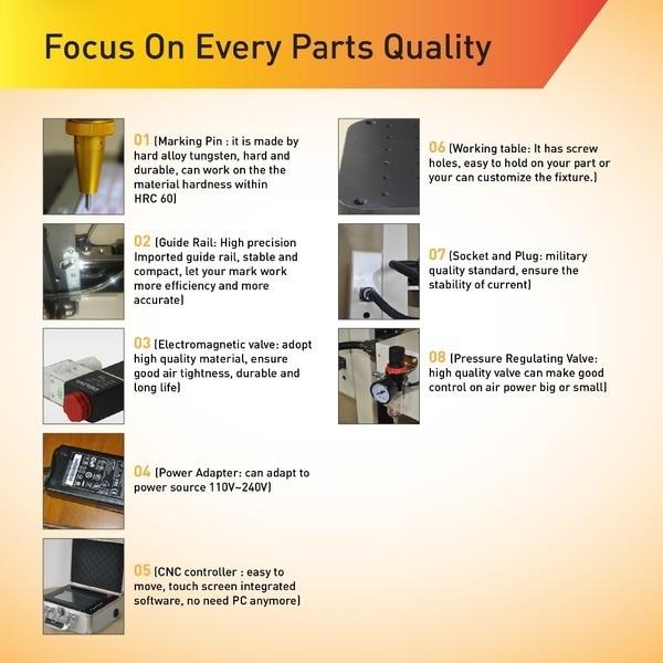 Macchina di marcatura pneumatica a pin CNC di qualità avanzata per - Attrezzature per la lavorazione del legno - Fotografia 4