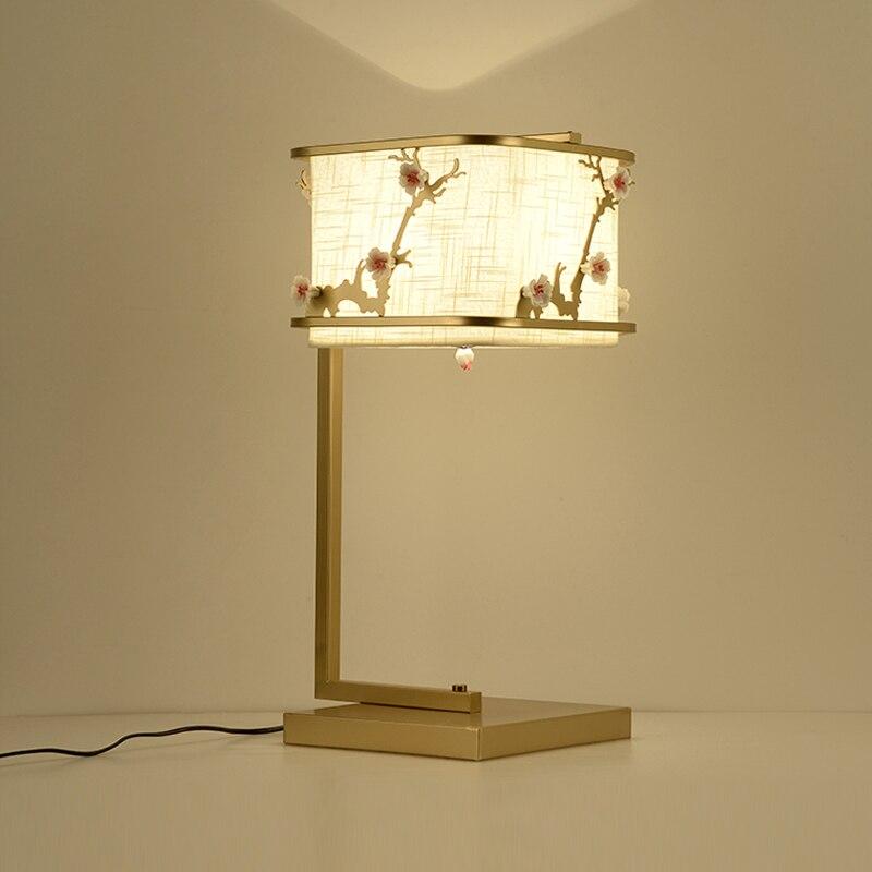 Китайский стиль настольная лампа современный лаконичный цветок гостиная спальня кровать исследования старые антикварные цветок сливы тво...