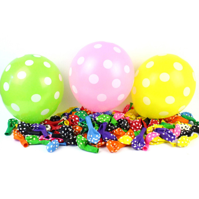Full printing polka dots wedding decoration helium balloons best full printing polka dots wedding decoration helium balloons best price 100pcslot 12 inches factory junglespirit Images