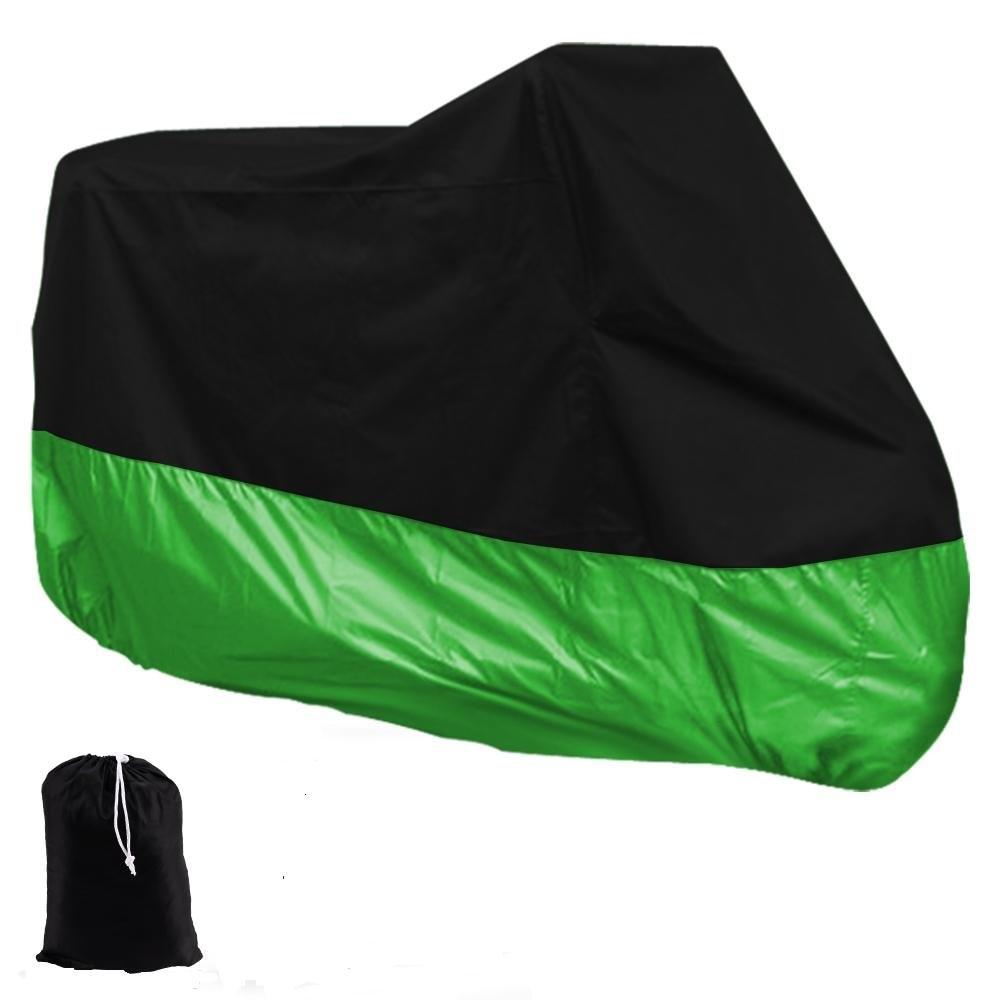 EDFY HOUSSE BACHE MOTO Couvre-Moto velo VTT scooter Taille XL 245cm vert noir protection