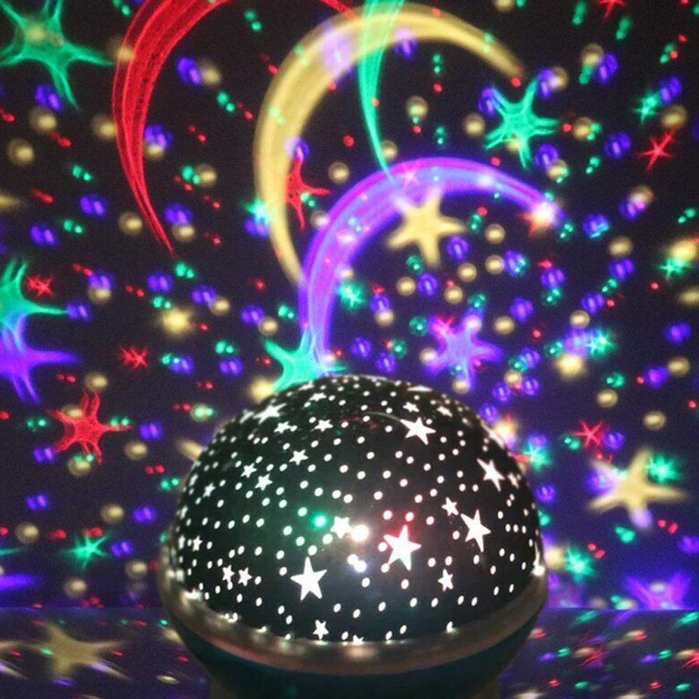Star Projector Lamp Constellation Lamp Starry Night Light LED Star Light Lampara Luna USB Bedroom Party Rechargeable Night Light