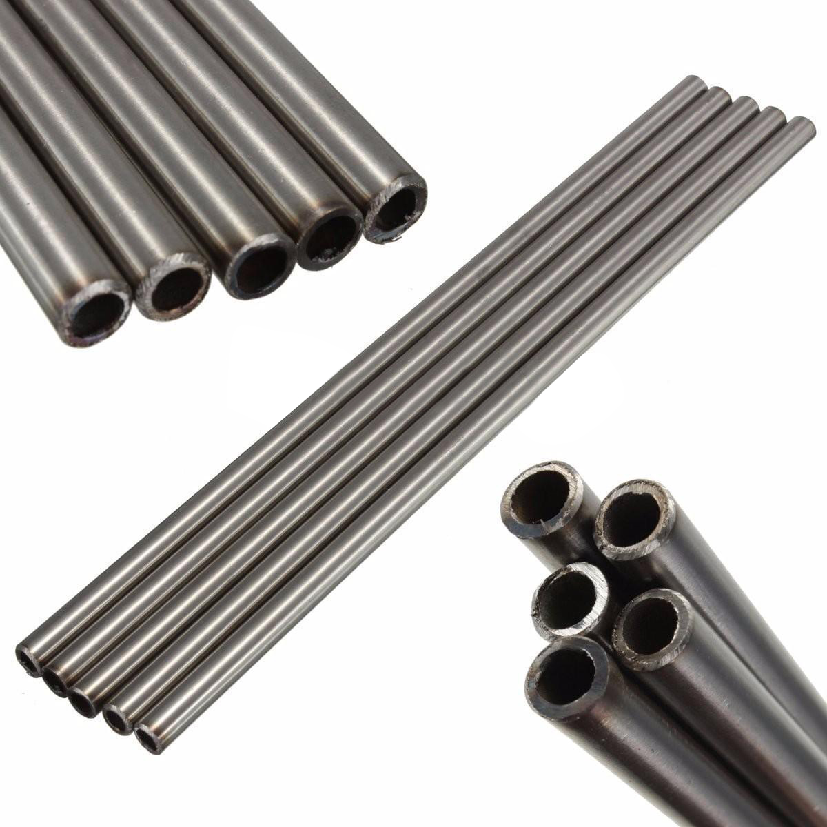 Silver 304 Stainless Steel Capillary Tube Tool OD 8mm 6mm ID Length 250mm 5pcs 304 stainless steel capillary tube 3mm od 2mm id 250mm length silver for hardware accessories
