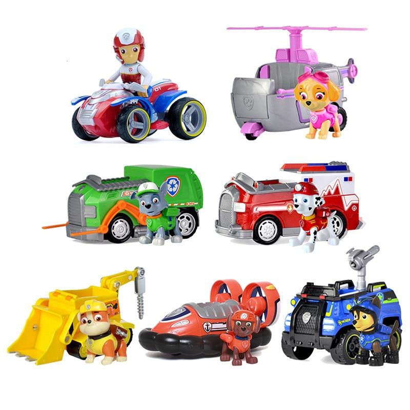 Paw pattuglia Cucciolo di Cane auto di Pattuglia canina Giocattoli Anime Figurine di Plastica Auto Giocattolo Action Figure modello Per Bambini giocattoli Dei Regali