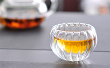 4pc/Lot Clear GlassTea Cups Set,Pumpkin Dress Cup, 50ml Double Wall Glass Teacup For Pumpkin Day and Halloween Gift