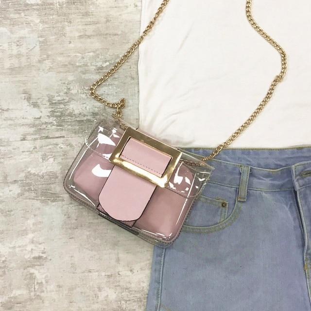 женские прозрачные сумки