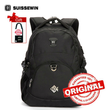 "Suissewin school Backpack  Mochila Lightweight Urban Backpack for Young Boys and Girls 15"" Muiti-pocket Laptop Bag Back Pack"