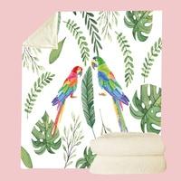 Excellent Ultra Warm Portable Throw Blankets Tropical Animal Leaf Zebra Flamingo Print Coral Fleece Plane Home Wearable Blanket