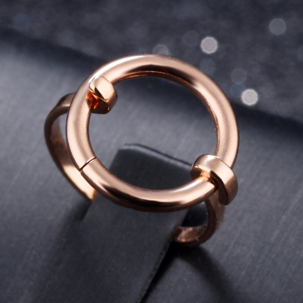 Online shop 7seas party band cocktail ring for women ultra thin double circle simple rose gold color woman jewelry ring best for gifts jm543 aliexpress