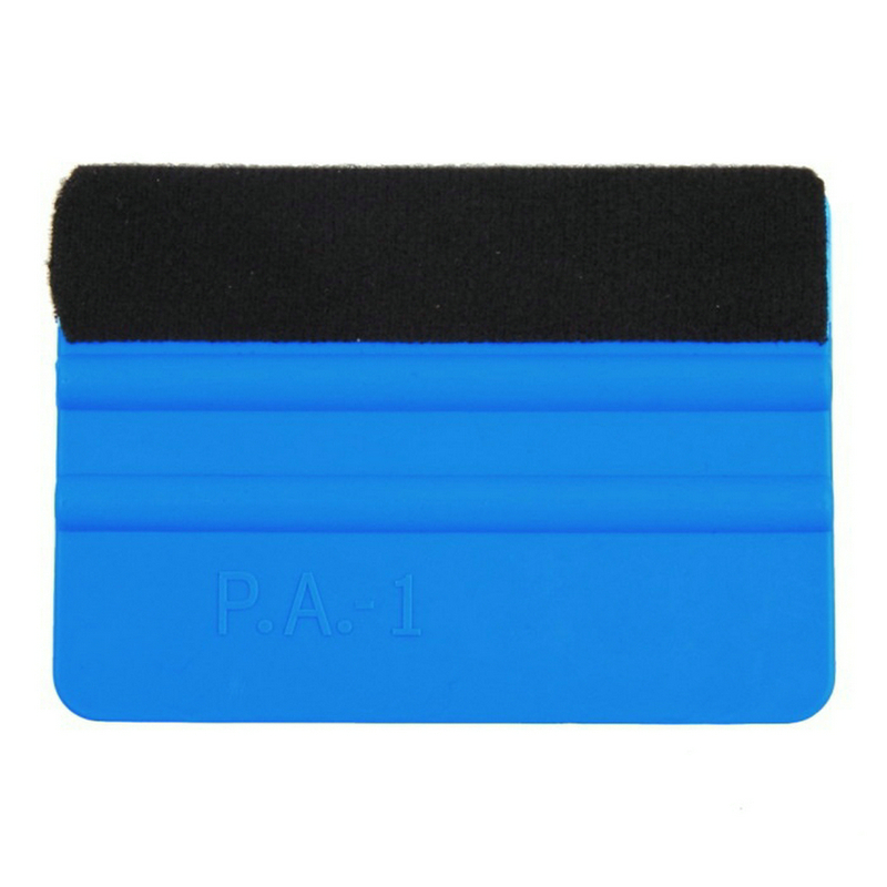 DHL 1000 PCS Blue Soft Pp With Soft Felt Cloth Car Vinyl Film Sticker Wrapping Wipers
