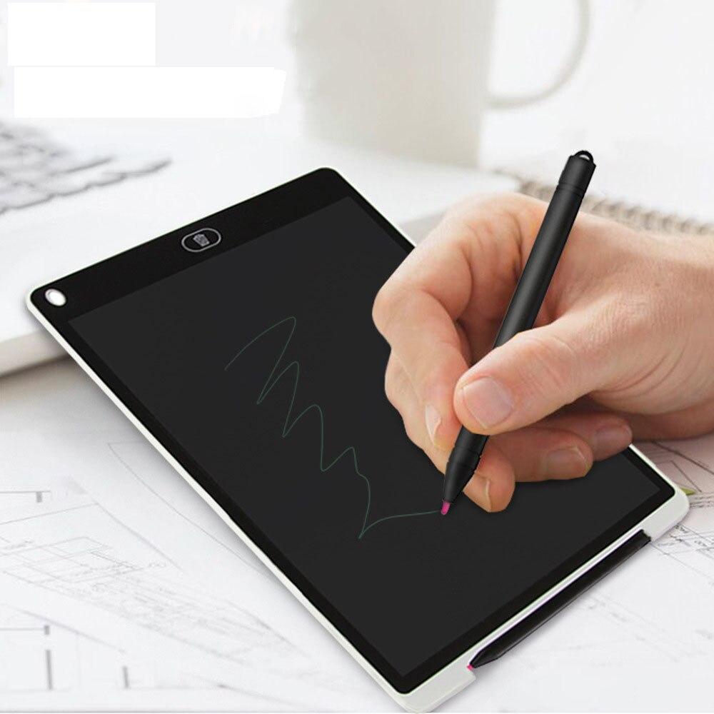 Купить с кэшбэком Mini Magnetic Blackboard Board 12 Inch Electronic Chalkboard for Kids LCD Writing Notebook Flipchart Drawing Flip Chart Tablet