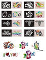 50 Mixed Design Sheets Stencils for Body Painting Glitter Temporary Tattoo Kit  Free shipping