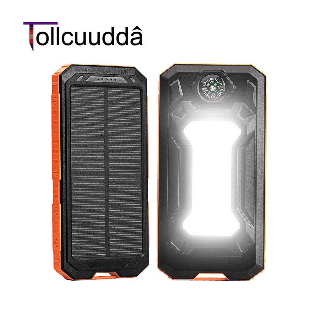Tollcuudda solar power bank 10000 mah cargador portátil de batería externa power