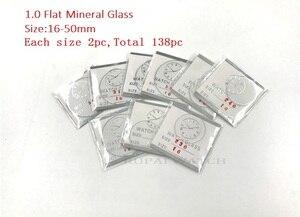 Image 1 - Montre minérale plat 138cs 1.0MM dépaisseur en verre minéral, choisissez des tailles de 16mm à 50mm pour les montres et la réparation, vente en gros