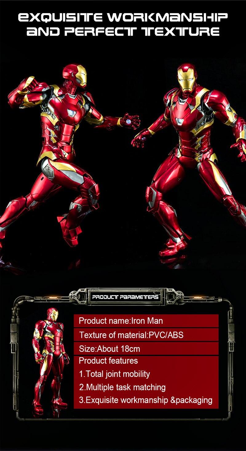 € 2 63 |El vengador juguetes Marvel Capitán América de hombre de hierro PVC  acciones veneno colección figuras de juguete Modelo de la mano de pie