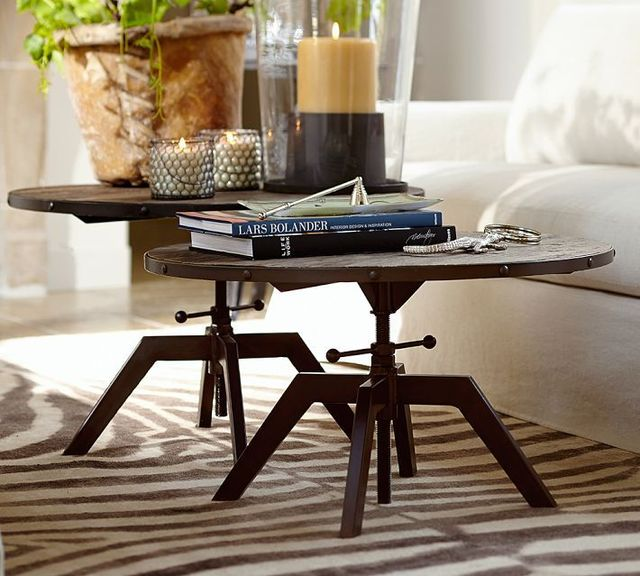 4706cd3dfe453 American country wrought iron bedside table coffee table wood coffee table  minimalist modern coffee table fashion small apartmen