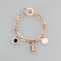 WLB0087 Limited Steel Bangles Luxury Purple Stone Rose Gold Openwork Silver Bracelets Birthday Gift Elegant Jewelry