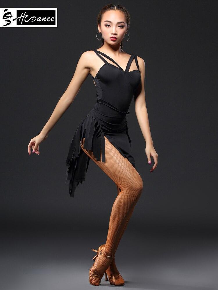 New Brand 3 Colors Latin Dance Dress Women Sleeveless Spandex Sexy Tango Dresses Salsa Latin Dress