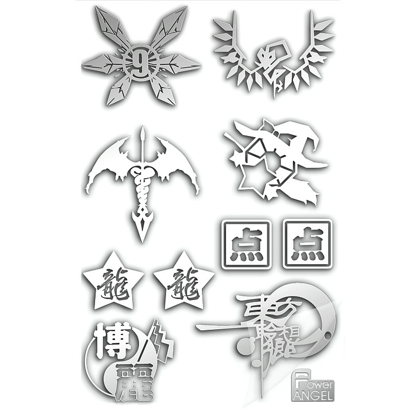 PowerAngel 3D DIY Metal Stickers TouHou Project Anime Sticker Mobile Phone Laptop Waterproof Decorative Stickers